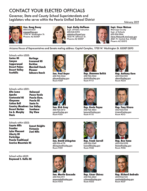 Arizona Elected Officials within Peoria Unified School District