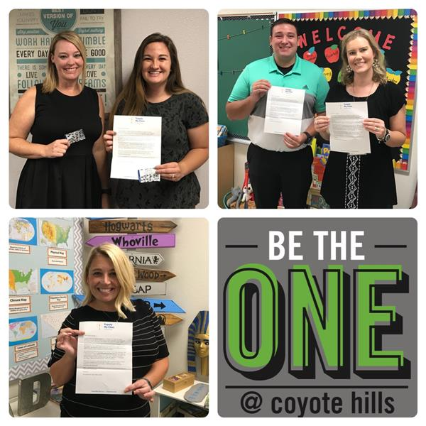 Five Coyote Hills Teachers Win $500 APS Supply My Class Gift Cards