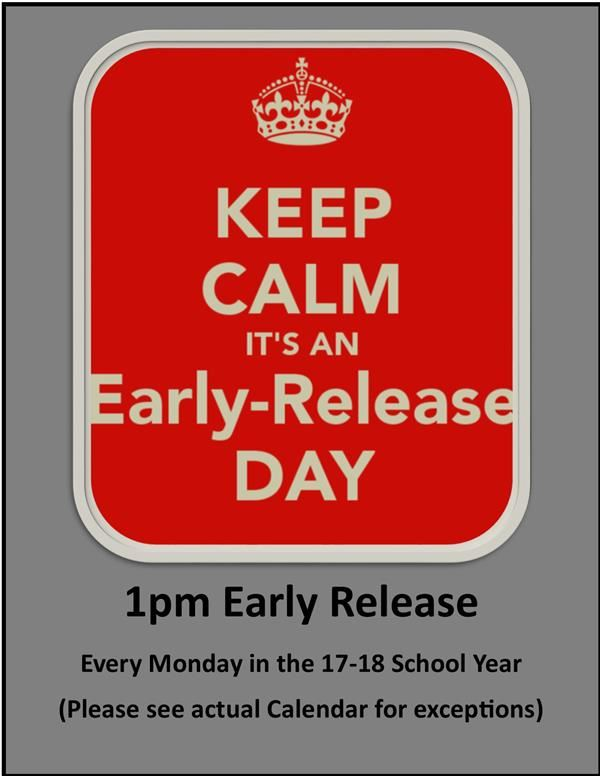 Early Release Mondays!