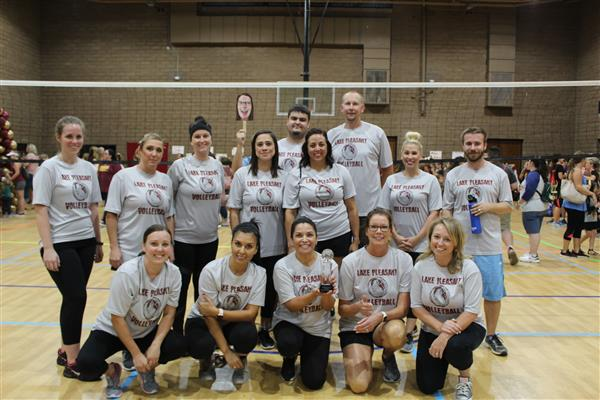 Annual Rivalry Staff Volleyball Game