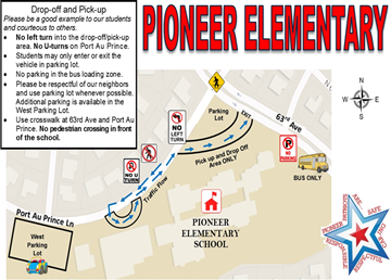 Pioneer's Drop off & Pick up Map