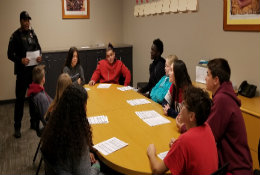 SWAG Students Meet With Officer Sydnor