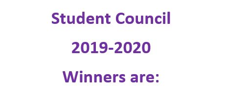 Student Council Winners