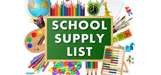 Student Supply Lists for the 2020-2021 School Year