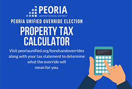 Property tax calculator decorative graphic