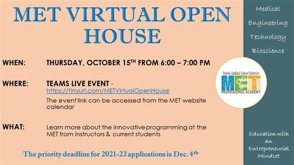 MET Virtual Open House Event