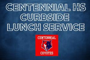 Curbside Meal Service starts August 31, 2020