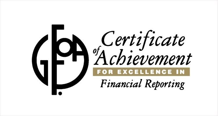 Peoria Unified Receives Certificate of Achievement for Excellence in Financial Reporting