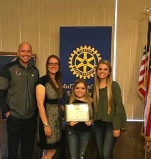 Lauren Lucas ~ Peoria Rotary Student of the Month