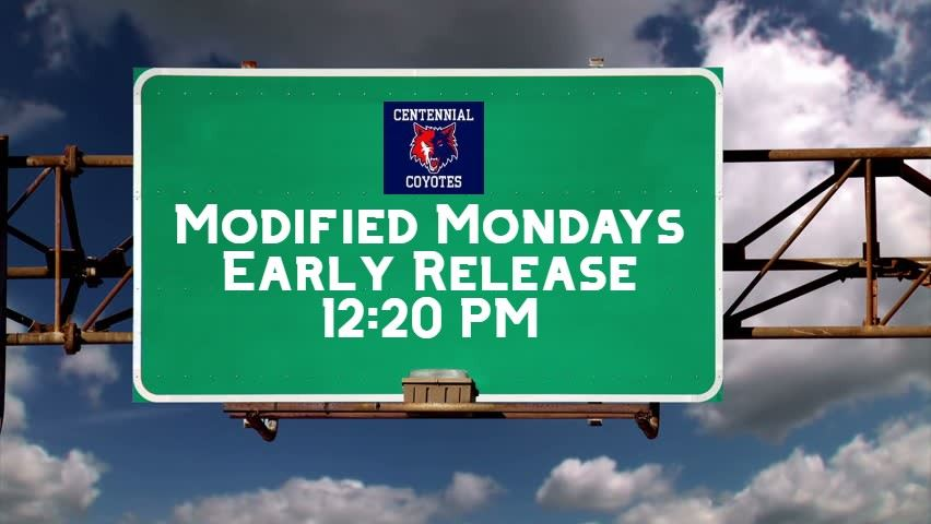 Weekly Monday 12:20 PM Early Release