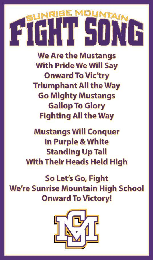 Lyric high school fight song lyrics : Fight Song / Sunrise Mountain Fight Song