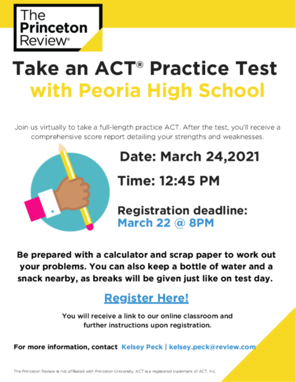 ACT PRACTICE TEST MARCH 24TH