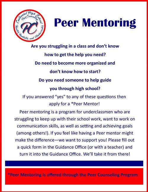 peer college counselor Peer counselors understand that emotions are a universal language emotions provide us with useful information, and they help us make decisions and connect with others.