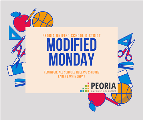 Modified Mondays are every week. Schools release two hours early.