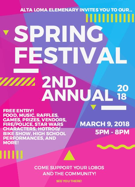 2nd Annual Alta Loma Spring Festival